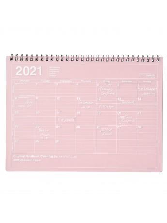 2021 Monthly Desktop Calendar Size M Pink   Mark's   Marks store