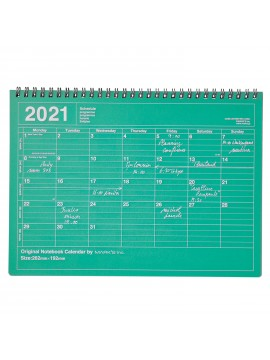 2020 Monthly Desktop Calendar Size M Green - Mark's