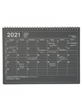 2020 Monthly Desktop Calendar Size M Black - Mark's