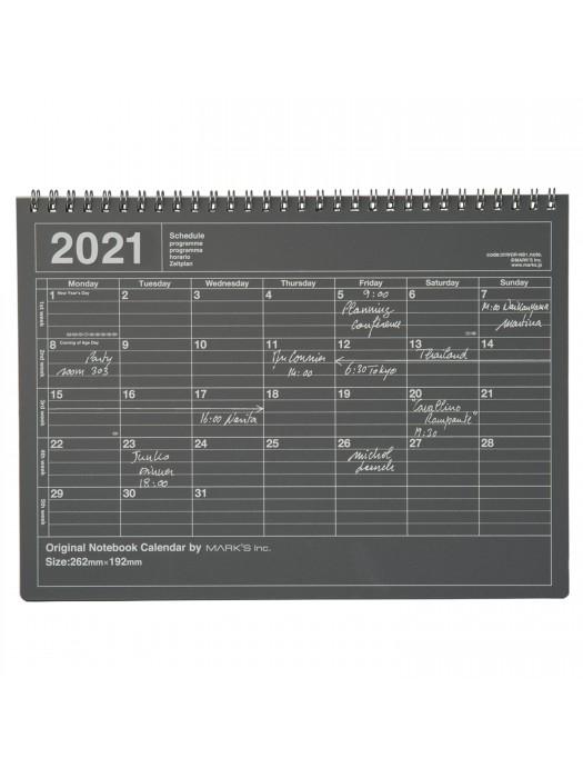 Calendrier mensuel 2021 de Bureau Taille M Noir   Mark's   Marks store