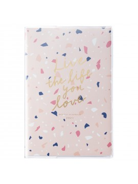 2021 Diary Weekly Left Type B6 Pink - Terrazzo Mark's