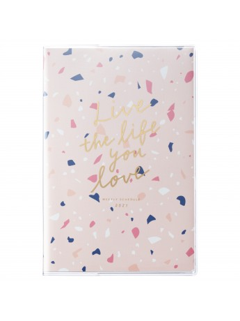 2021 Diary Weekly Left Type B6 Pink   Terrazzo Mark's   Marks store