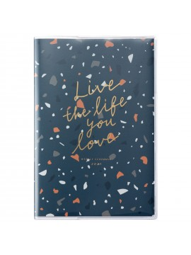 2021 Diary Weekly Left Type B6 Navy - Terrazzo Mark's