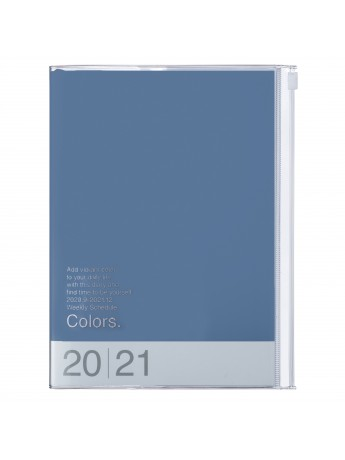 Diary 2021 Weekly Diary large-sized scheduler A5 Vertical Type Time Base 16H Blue - Colors