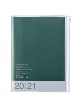 Diary 2021 Weekly Diary large-sized scheduler A5 Vertical Type Time Base 16H Green - Colors