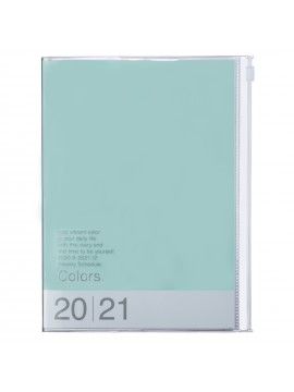 Diary 2021 Weekly Diary large-sized scheduler A5 Vertical Type Time Base 16H Mint - Colors