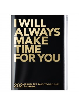 Diary 2021 Weekly Diary large-sized scheduler A5 Vertical Type Time Base 16H Black - Make time