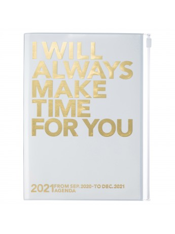 Diary 2021 Weekly Diary large-sized scheduler A5 Vertical Type Time Base 16H Gold - Make time