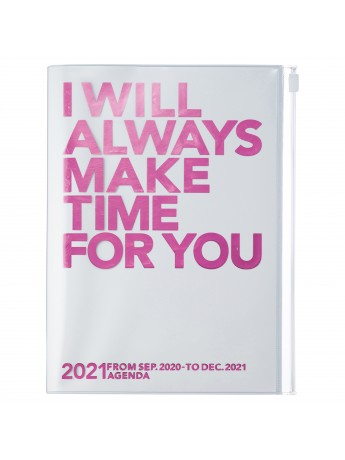 Diary 2021 Weekly Diary large-sized scheduler A5 Vertical Type Time Base 16H Pink - Make time