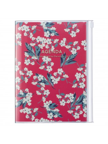 Diary 2021 Weekly Diary large-sized scheduler A5 Vertical Type Time Base 16H Red - Flower