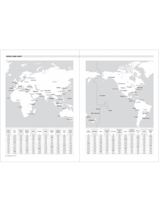 Agenda Semainier 2021 Grand Format A5 Type Vertical Base Horaire 16h Jaune Geometric Marks Store