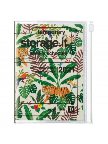 Agenda Semainier 2021 Compact A6 Type Vertical Base Horaire 16h Beige Jungle Marks Store