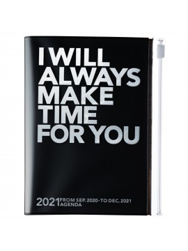Diary 2021 Compact A6 Compact Weekly Planner Vertical 16H Time Base Silver - Make time