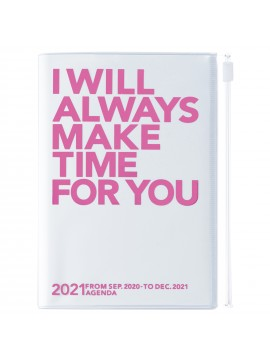 Diary 2021 Compact A6 Compact Weekly Planner Vertical 16H Time Base Pink - Make time
