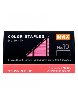 Staples Color Refill High Performance Staples Pink N-10 - 1000 pcs - MAX