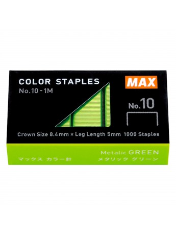 Staples Color Refill High Performance Staples Green N-10 - 1000 pcs - MAX