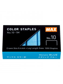 Staples Color Refill High Performance Staples Blue N-10 - 1000 pcs - MAX