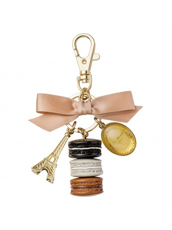 Key holder Macaron Réglisse - Les Secrets by Ladurée