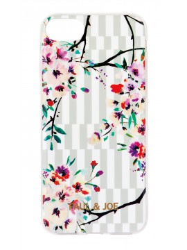 Smartphone case back cover Stripe Bouquet - PAUL & JOE La Papeterie