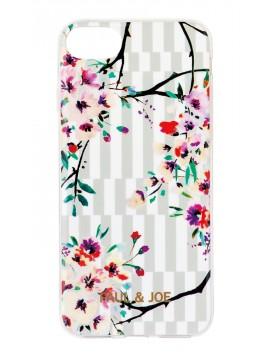 Smartphone case back cover Stripe Bouquet - PAUL & JOE La Papeterie