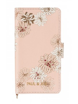 Smartphone case flip type for iPhone 7 Chrysanthemum - PAUL & JOE La Papeterie