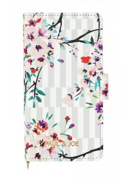 Smartphone case flip type for iPhone 7 Stripe Bouquet - PAUL & JOE La Papeterie