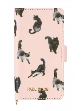 Smartphone case flip type for iPhone 7 Stripe Bouquet - PAUL & JOE La Papeterie