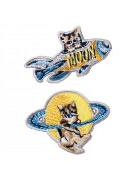 Embroidery Sticker Space Cat Travellers - PAUL & JOE La Papeterie