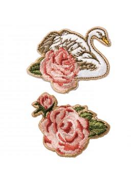 Embroidery Sticker Cygnes en Fleurs - PAUL & JOE La Papeterie