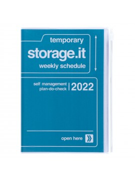 Diary 2022 B6 Vertical Type Zipped Recycled Cover 16 hours Navy - Storage.it Mark's