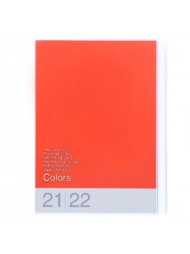 Diary 2022 A5 Vertical Type Zipped Recycled Cover 16 hours Orange - Colors Mark's