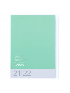 Diary 2022 A5 Vertical Type Zipped Recycled Cover 16 hours Mint - Colors Mark's