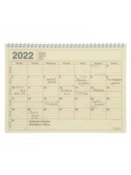 2022 Monthly Desktop Calendar Size M Ivory - Mark's