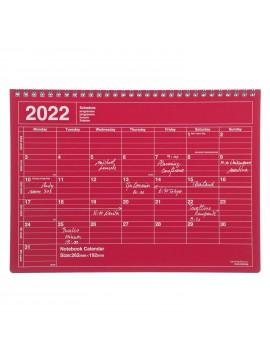 2022 Monthly Desktop Calendar Size M Red - Mark's