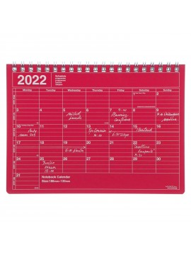 2022 Monthly Desktop Calendar Size S Rouge - Mark's