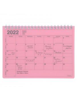 2022 Monthly Desktop Calendar Size S Pink - Mark's
