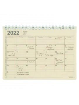 2022 Monthly Desktop Calendar Size S Ivory - Mark's