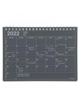 2022 Monthly Desktop Calendar Size S Black - Mark's