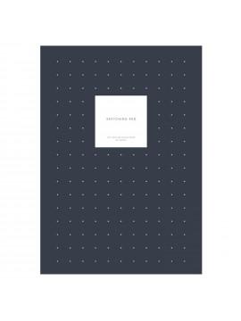 Notepad with cover Sketching Pad Dots Navy - Kartotek