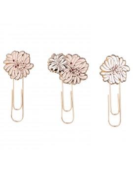 Set of 3 Paper Clip Chrysanthemum Pink - PAUL & JOE La papeterie