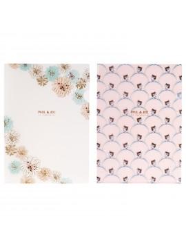 2 Clear Files A4 Chrysanthemum Neko - PAUL & JOE La Papeterie