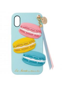 Backcover iPhone Xs X Macaron Menthe - Les Secrets de Ladurée