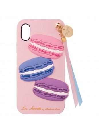 Backcover iPhone Xs X Macaron Rose - Les Secrets de Ladurée