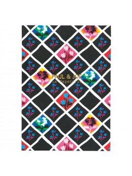 Notebook A6 Tartan Floral  - PAUL & JOE La Papeterie