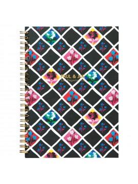 Notebook at Spiral A5 Tartan Floral - PAUL & JOE La papeterie