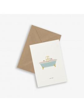 Greeting Card Bath tube - Kartotek Copenhagen