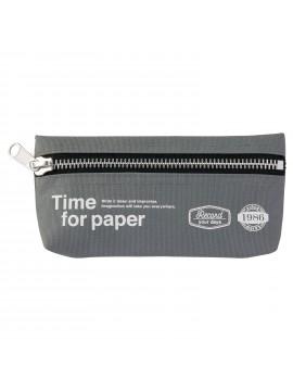 Pen Case rectangular Gray - Time for paper