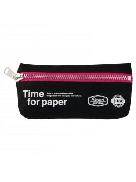 Pen Case rectangular Black - Time for paper