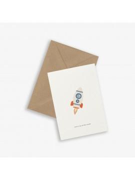 Greeting Card Rocket- - Kartotek Copenhagen
