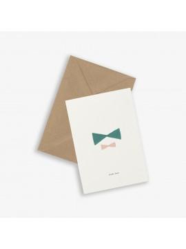 Greeting Card Sister bows - Kartotek Copenhagen